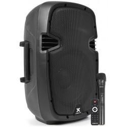 """Enceinte amplifié mobile 10"""" 120Wrms avec lecteur MP3, Bluetooth,FM"""