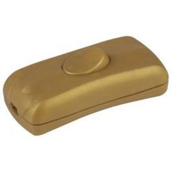 Interrupteur à bascule couleur doré