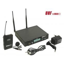 Microphone cravate PLL UHF à 8 canaux sans fil