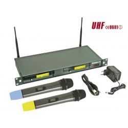 Double microphone PLL UHF à 8 canaux sans fil