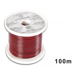 Câble haut-parleur, alimentation 2 x 0.5 mm² rouge/noir