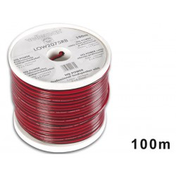 Câble haut-parleur, alimentation 2 x 0.75 mm² rouge/noir