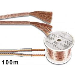 Câble haut-parleur OFC, alimentation 2 x 1.5 mm²