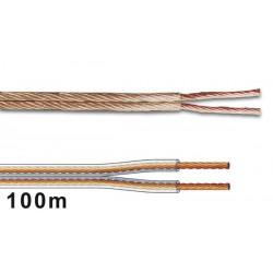 Câble haut-parleur OFC, alimentation 2 x 4 mm²