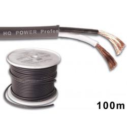 Câble haut-parleur OFC, alimentation 2 x 2.5 mm² noir